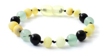 Bracelet, Obsidian, Amber, Anklet, Jewelry, Raw, Milky, Butter, Green Aventurine, Gemstone