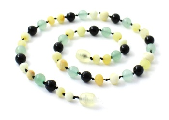 Necklace, Milky, Amber, Butter, Gemstone, Obsidian, Green Aventurine, Baltic 2