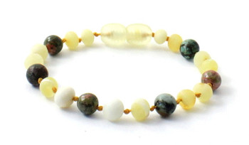 Bracelet, Amber, Milky, Butter, Raw, Anklet, Jewelry, African Turquoise, Unakite, Beaded