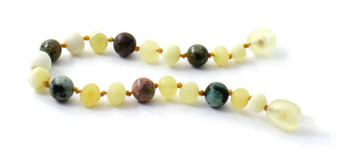 Bracelet, Amber, Milky, Butter, Raw, Anklet, Jewelry, African Turquoise, Unakite, Beaded 2