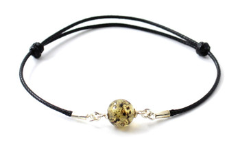Adjustable, Bracelet, Black, Minimalist, Knotted, Amber, Bead, Jewelry, Small