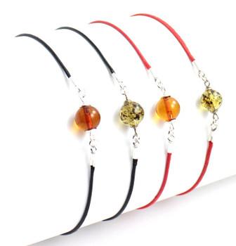 Adjustable, Bracelet, Black, Minimalist, Knotted, Amber, Bead, Jewelry, Small 3