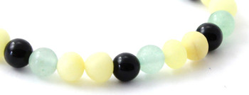 Jewellery, Bracelet, Green Aventurine, Amber, Baltic, Obsidian, Milky, Butter, Unpolished, Raw, Baroque 2