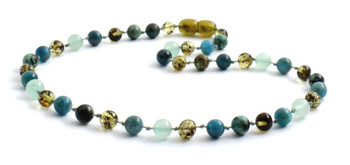 Green, Necklace, Amber, Baltic, Aventurine, Gemstone, Apatite, African Turquoise, Beaded, Jewelry