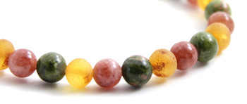 Honey, Unakite, Sunstone, Amber, Honey, Golden, Stretch, Jewelry, Bracelet, Beaded 2