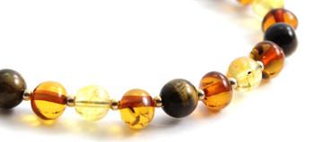 Bracelet, Amber, Sterling Silver 925, Citrine, Gemstone, Tiger Eye, Beaded, Women, Jewelry 2