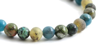 Green, Raw, Amber, Baltic, Bracelet, Stretch, Unpolished, Unakite, Apatite, African Turquoise 2