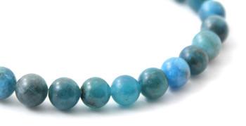 Apatite, Blue, Bracelet, Stretch, Jewelry, Jewellery, Men, Elastic, Gemstone, 6mm, 6 mm 2