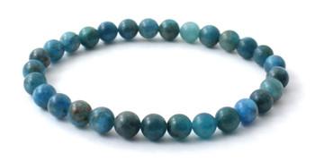 Apatite, Blue, Bracelet, Stretch, Jewelry, Jewellery, Men, Elastic, Gemstone, 6mm, 6 mm