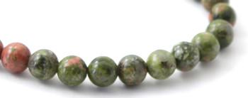 Bracelet, Unakite, Gemstone, Jewelry, Stretch, Jewellery, 6 mm, 6mm, Green, Men, Bulk, Wholesale 2