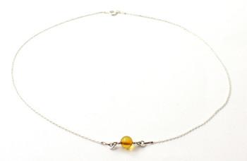 necklace, jewelry, bulk, wholesale, amber, baltic, sterling silver 925, cognac, minimalist 2