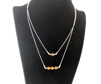 necklace, jewelry, bulk, wholesale, amber, baltic, sterling silver 925, cognac, minimalist