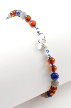 anklet, amber, silver, blue, lapis lazuli, gray, labradorite, sterling 925, jewelry, adjustable, baltic 2