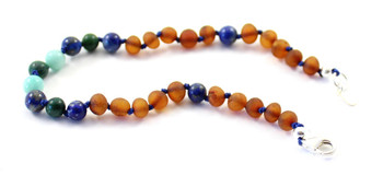 jewelry, anklet, baltic, amber, silver, clasp, adjustable, amazonite, lapis lazuli, sterling 925, african jade