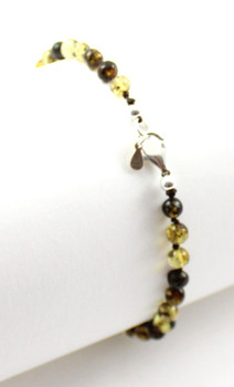 anklet, jewelry, jewellery, amber, green, sterling silver 925, adult, bulk, wholesale 2