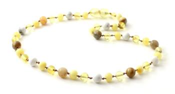 lemon, amber, howlite, white, necklace, jewelry, milky, yellow, crazy agate, beaded, gemstone
