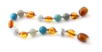 anklet, gemstone, apatite, labradorite, bracelet, teething, kids, cognac, bean, amber, baltic 2