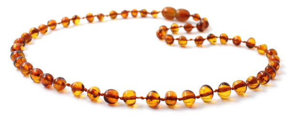 Cognac, Baltic, Necklace, Amber, Jewelry, Baroque, Teething, Kids, Polished