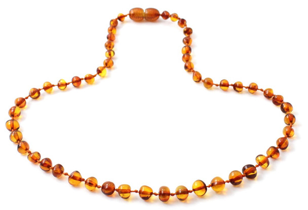 Cognac, Baltic, Necklace, Amber, Jewelry, Baroque, Teething, Kids, Polished 3