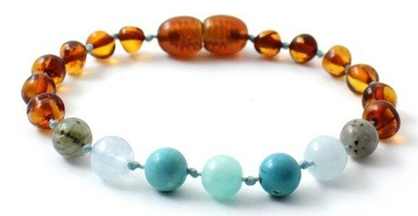 Turquoise, Bracelet, Gemstone, Amber, Anklet, Aquamarine, Cognac, Teething