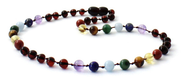 Polished, Necklace, Cherry, Baltic, Jewelry, Amber, Chakra, Colorful, Adult, Women