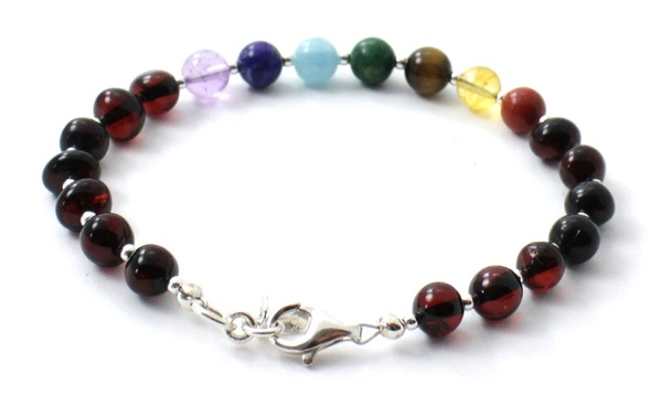 Cherry, Baltic Amber, Chakra, Silver, Sterling 925, Polished, Jewelry, Gemstone, Women 3