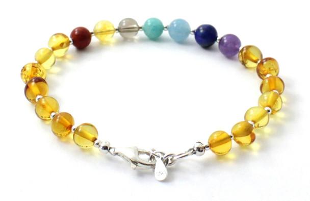 Honey, Silver, Amber, Bracelet, Polished, Jewelry, Chakra, Gemstone, Baltic, Sterling 925 3