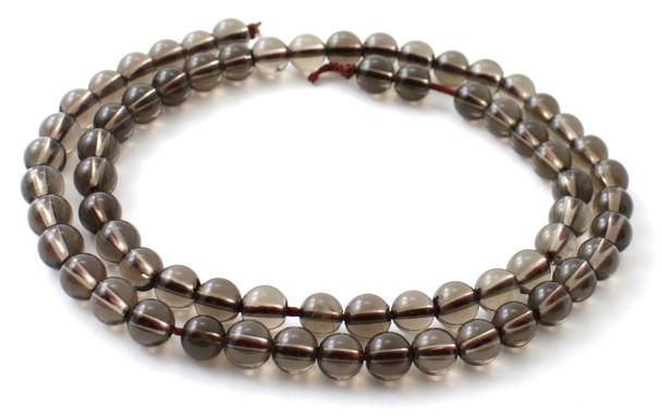Quartz, Gemstone, Smoky, 6 mm, Beads, Strand, 6mm, Grey, Loose