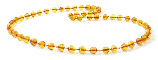 Necklace, Jewelry, Amber, Baltic, Honey, Polished, Baroque, Knotted, Beaded, Golden