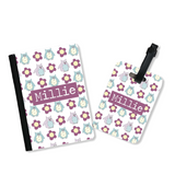 Girl's Personalised Passport Cover and Tag