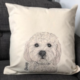 Personalised Dog Illustrated Cushion