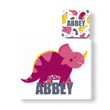 Personalised Dinosaur Placemat and Coaster - Abbey