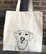 Personalised Line Drawing Illustrated Dog Tote