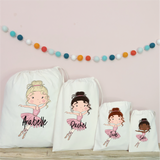Personalised Ballerina Party Bags