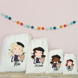 Personalised Painting Party Bags