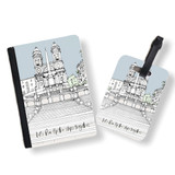 Personalised Passport Cover and Tag - Rome