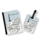 Personalised Passport Cover and Tag - Paris