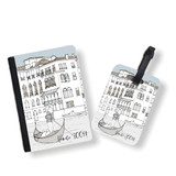 Personalised Passport Cover and Tag - Venice