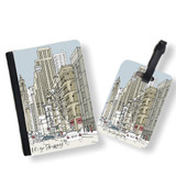 Personalised Passport Cover and Tag - New York