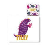 Personalised Dinosaur Placemat and Coaster - Tilly