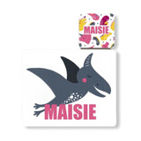 Personalised Dinosaur Placemat and Coaster - Maisie