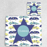 Cars Personalised Placemat and matching coaster