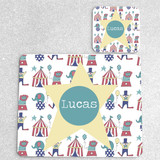 Circus Personalised Placemat and matching coaster