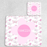 Butterflies Personalised Placemat and Coaster Set