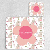 Cat & Mouse Personalised Placemat and Coaster Set