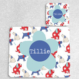 Dogs Personalised Placemat and Coaster Set