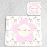 Horse Personalised Placemat and Coaster Set