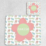 Jungle Personalised Placemat and Coaster Set