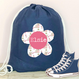 Personalised PE Kit/Nursery Bag - Cat and Mouse