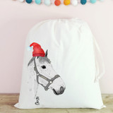 Illustrated Horse Christmas  Bags